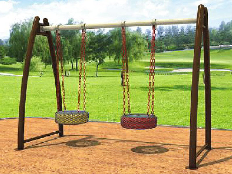 Outdoor Free Standing Tire Swing Set For Parks